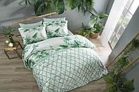 Двуспальное евро постельное белье TAC Patriot green Сатин-Digital, фото 1