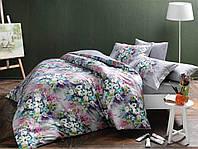 Двуспальное евро постельное белье TAC Delft Сатин-Digital