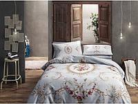 Двуспальное евро постельное белье TAC Sophie gold Сатин