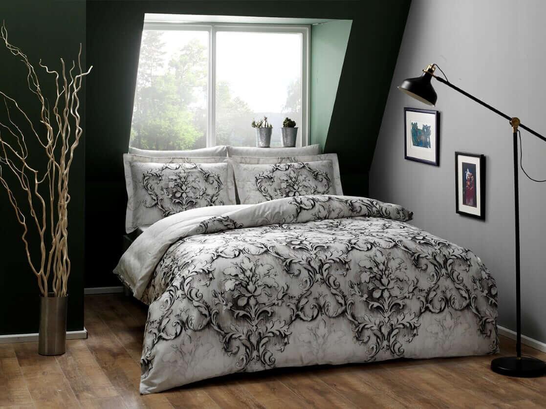 Двуспальное евро постельное белье TAC Carissa Сатин-Digital