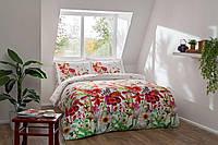 Двуспальное евро постельное белье TAC Rosabel Сатин-Digital