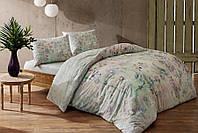 Двуспальное евро постельное белье TAC Bamboo Renata Green Бамбук
