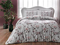 Двуспальное евро постельное белье TAC Lotte Pink Сатин