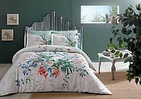 Двуспальное евро постельное белье TAC Aden green Сатин-Delux