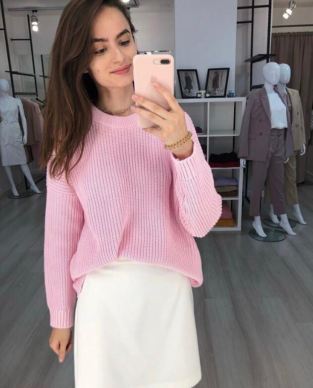 Женский стильный  вязаный свитер,в расцветках