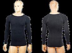 Термобелье мужское футболка с длинным рукавом (лонгслив), (чер,S-3XL-рост170-185см)