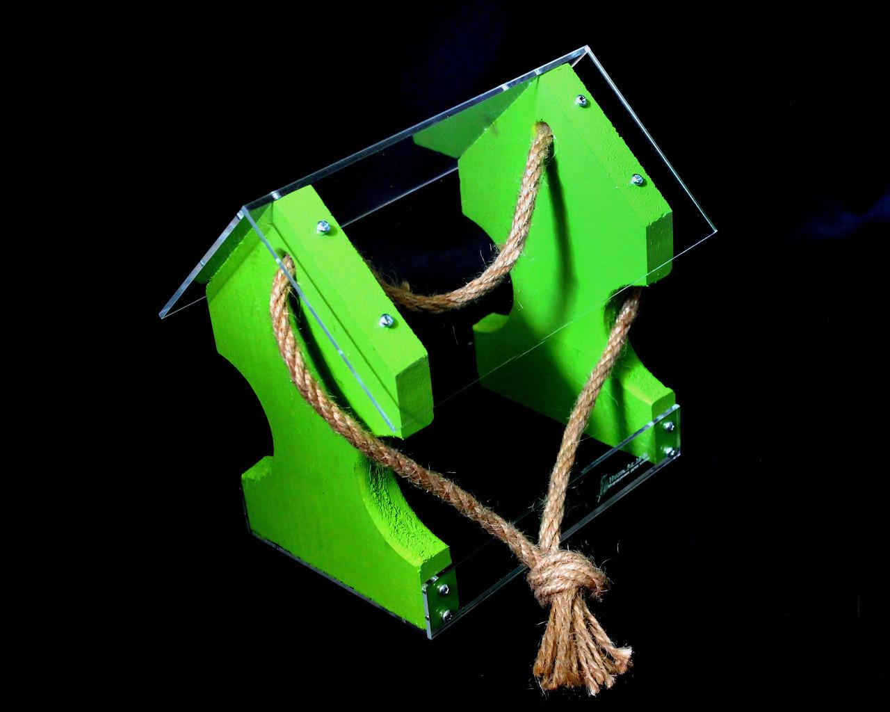 Кормушка для птиц подвесная в коробке подарочной Цветная