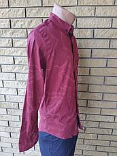 Рубашка мужская коттоновая стрейчевая брендовая высокого качества ONLINE, Турция, фото 3