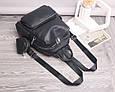 Рюкзак в комплекте косметичка / натуральная кожа (кт-2803) Черный, фото 6