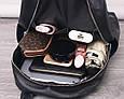 Рюкзак в комплекте косметичка / натуральная кожа (кт-2803) Черный, фото 7