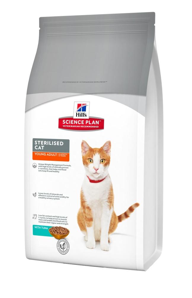 Сухой корм с тунцом для кастрированных и стерилизованных кошек Hill's Sterilised Tuna 1,5 кг