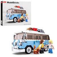 KMM38-B0707 Конструктор SLUBAN   автобус15см, фигурки, животное, 227дет, в кор-ке, 33-24-5,5см