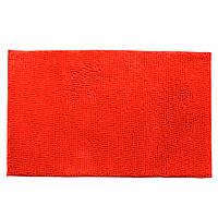 Коврик для ванной микрофибра прорезиненная основа 50х80 см красный (44102.001)