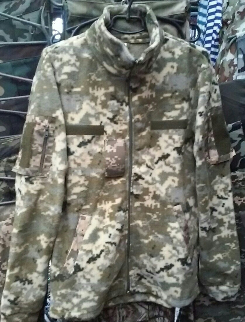 Куртки флисовые форменные светлый пиксель, 52 р и др