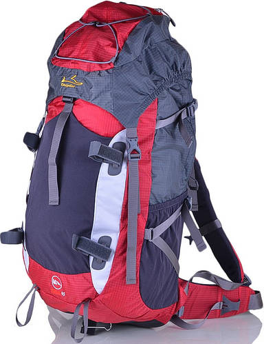 Качественный рюкзак туристический 45 л. Onepolar W1702-red красный