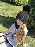 Женская шапка и снуд. Ручная вязка., фото 4