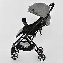 """Коляска прогулочная детская С - 308 """"JOY""""СЕРЫЙ, футкавер, дождевик, съемный бампер, телескопическая ручка, фото 2"""