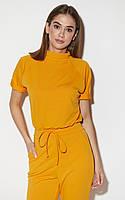 Комбинезон женский с коротким рукавом желтый, фото 1