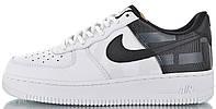 "Мужские кроссовки Nike Air Force 1 Low ""White/Black"" (Hайк Аир Форс) белые"