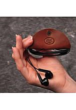 Футляр для наушников из натуральной кожи Светло-коричневый
