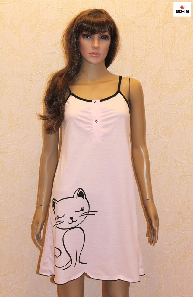 Жіночий комплект трикотаж стрейч нічна сорочка