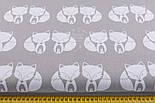 Ткань с лисичками на сером фоне (№ 1)., фото 2