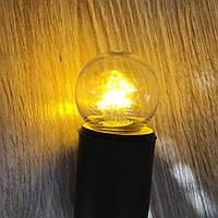 Прозрачная лампочка 1Вт Е27 G45, 2200К Filament DIP12