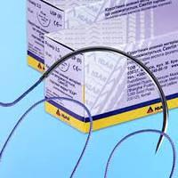 """Хирургический шовный рассасывающийся материал Синтил (Полигликоидная кислота) торговой марки """"ИГАР"""" №4/0 (1,5)"""