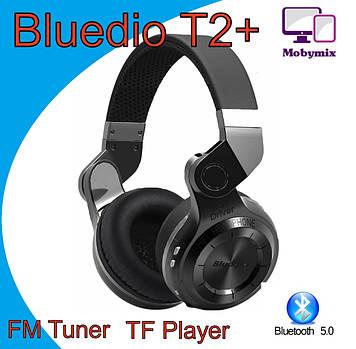 Беспроводные наушники  Bluedio t2+ ,супер качество и звук , поддержка fm радио и карт памяти Bluetooth 5.0