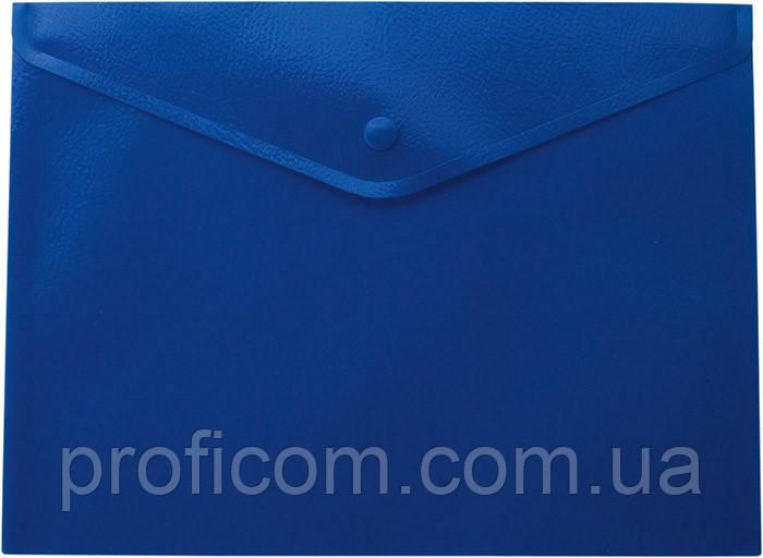 "Папка на кнопці А4 ""BuroMax"", синя"