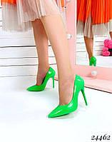 Туфли  женские  лодочки салатовые шпилька 10,5 см, фото 1