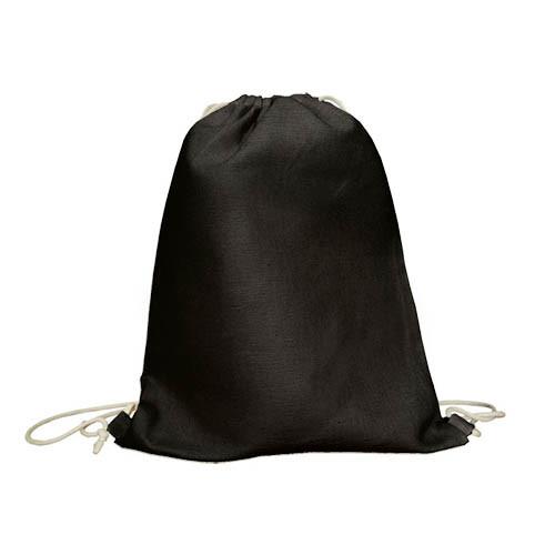 Экорюкзак черний из саржи (35х45 см.), 260 г/м2.
