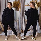 Спортивный костюм женский большого размера. Цвет: хаки,черный,красный, фото 4
