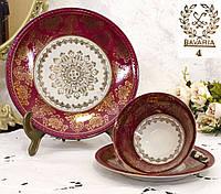 Винтажная чайная тройка, чашка, блюдце, тарелка, Gebruder Winterling A.G, Германия, фарфор, фото 1