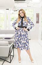 """Элегантное миди-платье в цветочек """"Debra"""" с завышенной талией (большие размеры), фото 3"""
