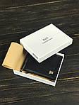 Мужской кошелек из натуральной кожи с держателем для денег (черный), фото 3
