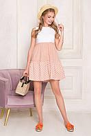 Летнее платье трапеция с завышенной талией, фото 1