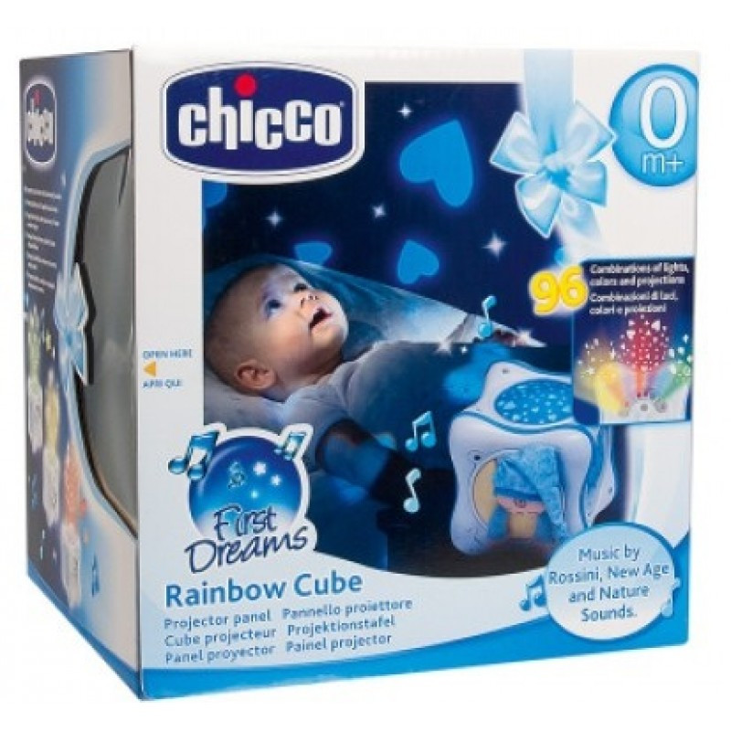 """Ночник проектор """"радужный куб"""" Chicco 59862"""