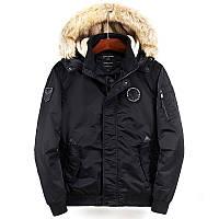 Куртка бомбер мужская осень зима бренд City Channel (Канада) размер 48 черная 03007/023