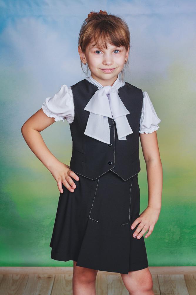 Школьная форма для девочки юбка+жилет