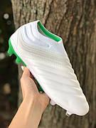 Бутсы Adidas Copa 19+FG/AG White без шнурков (реплика) 7511