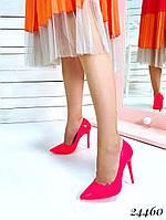 Туфли  женские  лодочки  розовые шпилька  10,5 см, фото 1