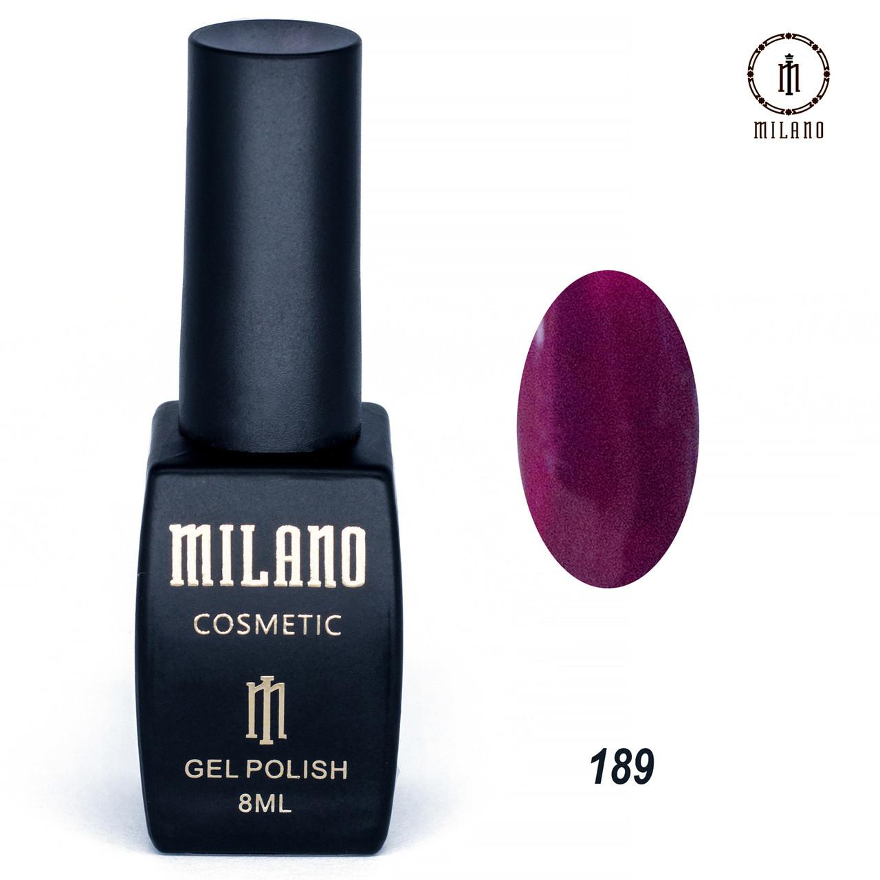 Гель-лак Milano 8 мл. №189⭐⭐⭐⭐⭐