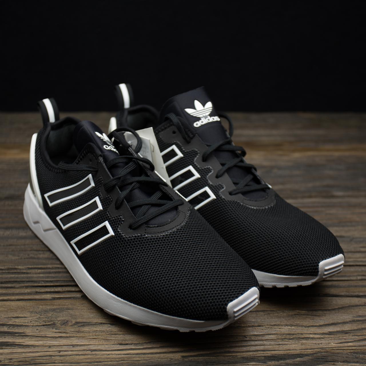 Мужские черные кроссовки Adidas Originals ZX Flux ADV стелька 29 см, фото 1