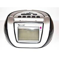 Бумбокс колонка караоке часы MP3 Golon RX 656Q черный , портативная акустика