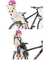 Велокресло детское HTP Design модель SANBAS сидушка на велосипед детская, Италия, сзади крепление