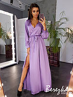 Вечернее шелковое платье макси разные цвета, фото 1