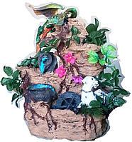 Фонтан Дракон и собачки садовый подвесной декоративный Пейзаж деревья подсветка МЕЛЬНИЦА 35=35=16