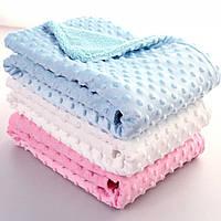 Плюшевый плед для новорожденного в коляску кроватку одеяло в роддом