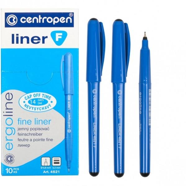Маркер линер Ergoline Centropen 0.3 мм черный 4621